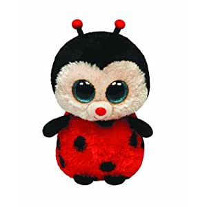 TY 7136965 - Beanie Boos Bugs Buddy, Peluche coccinella, 24 cm, colore: Rosso