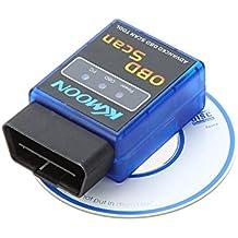 KKMOON Mini Bluetooth V2,1 OBDII OBD - II OBD2 Protocolli Diagnostico Auto Scanner Tool