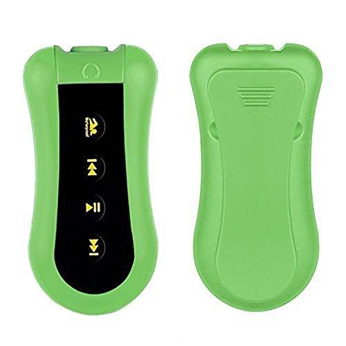 MOKE 8GB Sport Schwimmen Tauchen Wasserdicht Tauchen Unterwasser -Wasserdicht bis 3 Meter mit MP3-Player FM-Radio-Kopfhörer für das Laufen Schwimmen Radfahren Fitness (grün)