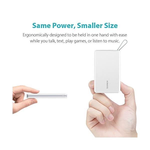Romoss Bateria Externa para Movil, Power Bank 20000mAh con Pantalla LED, batería Externa para Cargador portátil, Cargador USB Ultra Compacto, batería para teléfonos móviles, iPad, Samsung