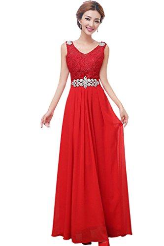 Vimans -  Vestito  - linea ad a - Donna Red2