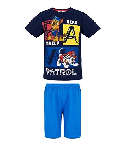 Marine-blau Pyjama (Paw Patrol Jungen Shorty-Pyjama - marine blau - 110)