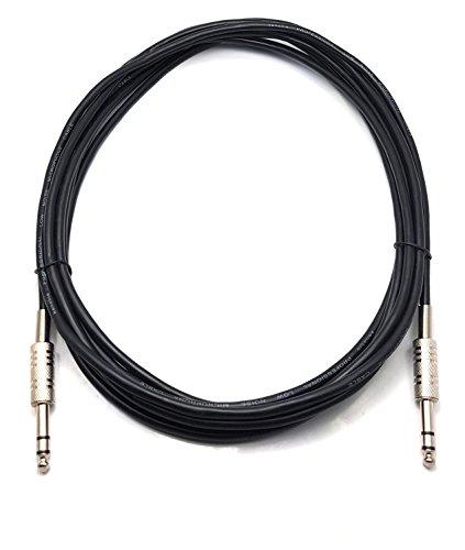 ragai Stereo Klinkenstecker 6,35mm auf 6,35mm Stereo Jack/Metall/Stecker auf Stecker/Kabel Blei (erhältlich in 0,50m, 1m, 3m, 4m, 5m, 6m)