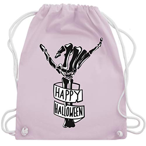 Halloween - Happy Halloween Skelett Hand - Unisize - Pastell Rosa - WM110 - Turnbeutel & Gym Bag