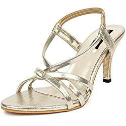 Do Bhai Sandal-05 Fashionable & Stylish Heels for Women (EU40, Golden)