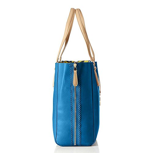 Borsa Shopping Bag Trussardi Jeans Blu-Giallo