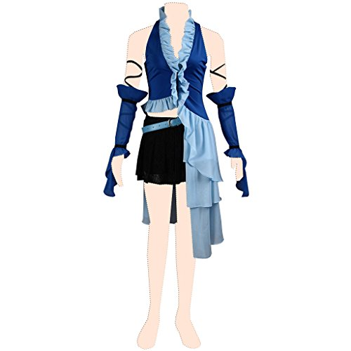 Final Fantasy Kostüm Girl - Final Fantasy X Kostuem cosplay yuna 3rd ver-singing girl suit Kid Small
