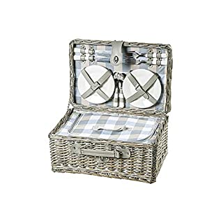 Adam Schmidt 6768 Picnic Basket for 4 People Grey