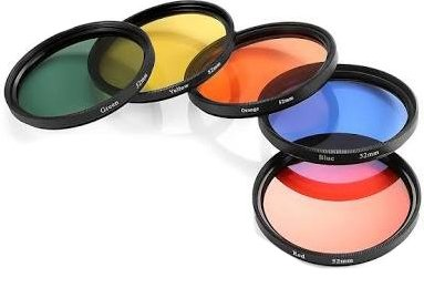 Hanumex 58mm Round Full Color Filter Set Lens Accessory Filter Kit for Canon DSLR Cameras(Pack of 5)