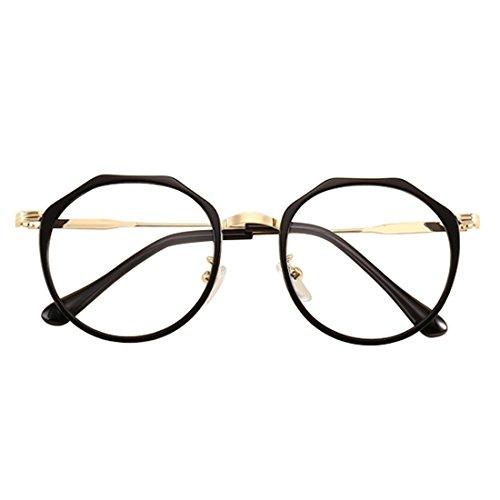Yefree Männer und Frauen Mode Retro Myopie Gläser Metall Runde Gesicht Myopie Gläser Unregelmäßige Glasrahmen