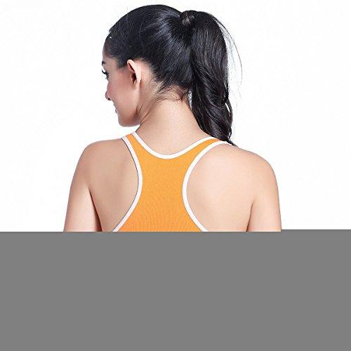 Ancdream Femmes De Yoga Sports - Gym Soutien-gorge Vest Orange