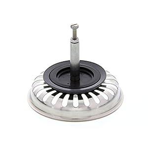 Blanco 125555 – Colador con tapón para funcionamiento excéntrico, acero inoxidable, 8,2cm