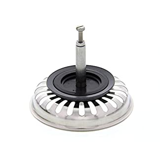 41P70jzOFeL. SS324  - Blanco 125555 - Colador con tapón para funcionamiento excéntrico, acero inoxidable, 8,2cm