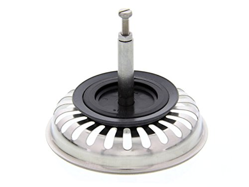 Bonde à panier Blanco 125555, avec tenons pour ponceuse excentrique en acier inoxydable, 8,2cm