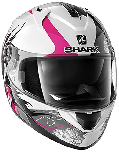 Shark Motorradhelm RIDILL 1.2 SPRING WKV, Weiss/Schwarz/Lila, XS