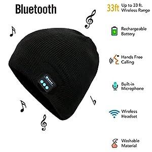 Wireless Cappello Musicale Stereoscopico Altoparlanti Mic Cappello Cuffie  Bluetooth Removibile Maglieria Calda Cappello per telefoni cellulari 274b931d3bd9