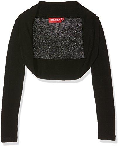 G.O.L. Mädchen Regular Fit Jacken Heavy - Jersey - Bolero 1726900, Einfarbig, Gr. 176 (Herstellergröße:176), Schwarz (black 2) (Jacke Jersey Heavy)