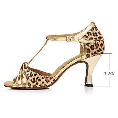 Scarpe da ballo - Non personalizzabile - Da donna - Balli latino-americani - Tacco a rocchetto - Vellutato - Leopardo leopard