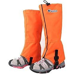 Eagsouni® Polainas Impermeable al Aire Libre y Polainas Prueba de Viento Guardia de Protección para Las Piernas Pesca Senderismo Esquí Escalada