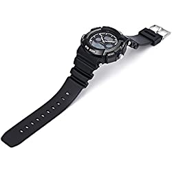 Leopard Shop HOSKA H004B Multifunctional Sport Watch Digital Quartz Children Wristwatch Chronograph Calendar Alarm EL Backlight 50M Water Resistance White Black