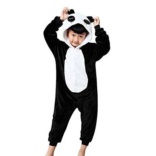 GWELL Kinder Kostüm Tier Kostüme Schlafanzug Mädchen Jungen Winter Nachtwäsche Tieroutfit Cosplay Jumpsuit panda Körpergröße (Kinder Panda Kostüme)