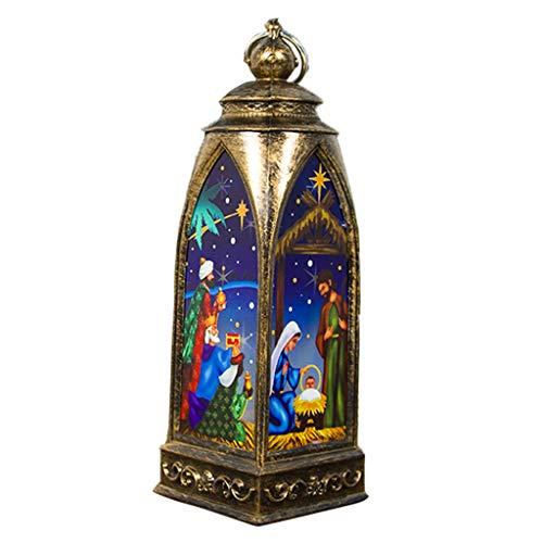 Weihnachten Kreativität Bemalte Windlicht Dekoration Weihnachtsbaum Kreative Verzierungen Mehrere Stile Mini Leuchtturm Weihnachten Deko Beleuchtung Diy Dekorativer Anhänger
