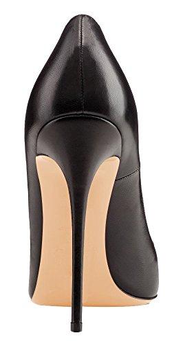 uBeauty - Escarpins Femmes - Chaussures Stilettos - Talon Aiguille - Grande Taille - Chaussures Femme Talons Noir PU