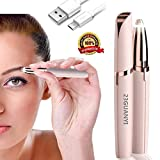 Eyebrow Hair Remover for Women-Painless Portable Electric Eyebrow Trimmer,Eyebrow Hair Removal Razor with Light,Eyebbrow Shave Perfect Touch,Rechargeable USB