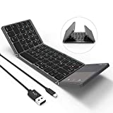 Folding Bluetooth Keyboard, Jelly Comb B-003B Rechargeable USB Wired & Bluetooth Keyboard Dual