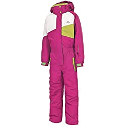 Trespass Wiper Combinaison de Ski Mixte Enfant, Rose Bubble Gum, 9/10