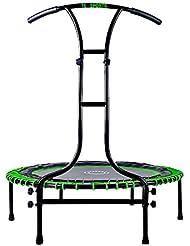 Indoor Outdoor Mini Fitness Trampolin 110 cm Ø mit 6 Standbeinen und Haltegriff höhenverstellbar stabile Ausführung bis 120 kg belastbar