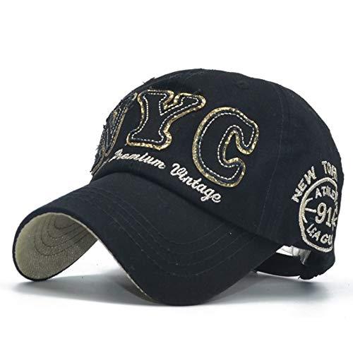 Männliche Kostüm Baseball - XHDTMZ Baumwolle Baseball Cap Buchstaben Stickerei Hut männlichen und weiblichen kostüm Hut schwarzen Hut