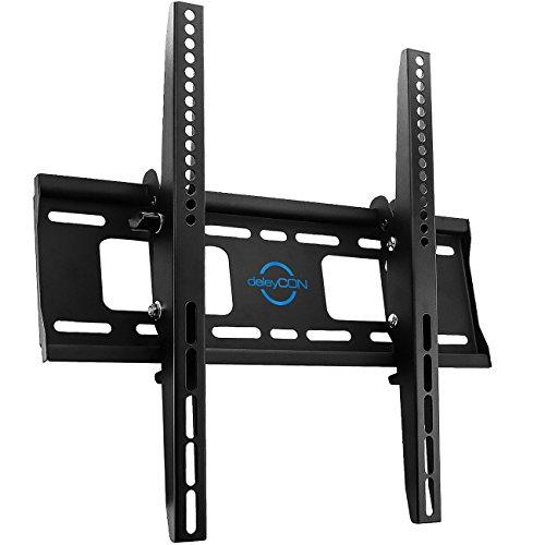 """deleyCON Universal TV Wandhalterung - 30"""" bis 65"""" Zoll (76-165cm) - bis -10°/+5° Neigbar - Belastbar bis 75Kg - bis VESA 400x400mm - Wandabstand 56mm - TV Plasma Fernseher LCD LED OLED TFT Halterung"""