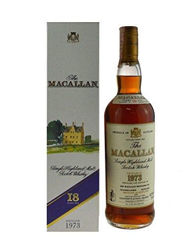 Rarität: The Macallan Whisky Jahrgang 1973, abgefüllt 1991 - Single Highland Malt Scotch Whisky