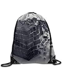 566bfdfce3 ewtretr Sacche Coulisse Zaino, Magic Cube Gym Drawstring Backpack Unisex  Portable Sack Bags