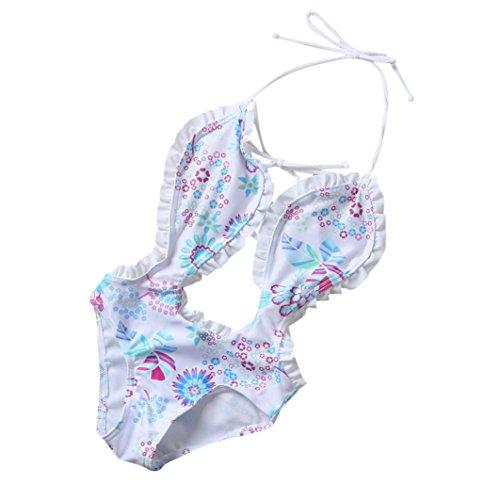 WYXlink Kids Baby Girls One Piece Floral Bikini Swimwear Swimsuit Bathing Suit Beachwear