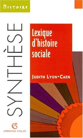 Lexique d'histoire sociale
