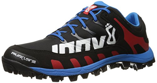 inov-8 Men's Mudclaw 300 CL Trail Running Shoe, Black/Blue/Red, 5 UK