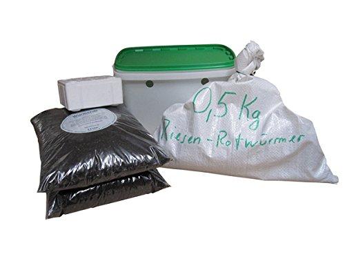 Set große (ca. 315 Stück) Angelwürmer, Futterwürmer, Regenwürmer - 0,5 Kg