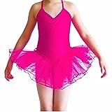 Freebily Maillot Vestido Danza para Niña (2-12 años) de Fiestas Leotardo Ballet Tutú Elástico...
