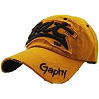 Amlaiworld_Gorras Gorra de Beisbol Verano Bordada de Malla Sombreros para Hombres Mujeres Sombreros Casuales Gorras de béisbol de Hip Hop (A Amarillo)