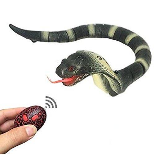 Wiiguda@Fernbedienung Schlange Spielzeug,Kobra aus Kunststoff,als Weihnachtsgeschenk und Geburtstagsgeschenk,gelb