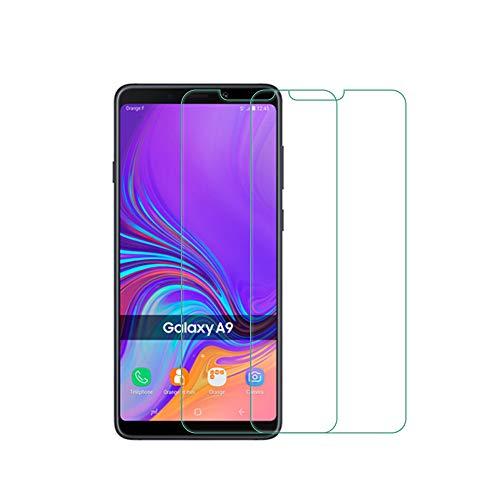 QULLOO Samsung Galaxy A9 2018 Pellicola Vetro Temperato Screen Protector 2 Packs 2.5D Vetro Temprato Trasparente ad Alta Definizione con Pellicola Anti-graffio per Samsung Galaxy A9 2018