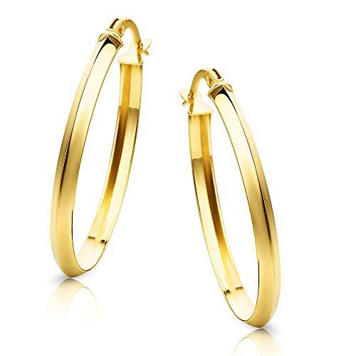 Orovi Orecchini Donna Cerchio in Oro Giallo Oro 9 Kt / 375