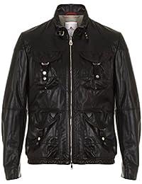 Peuterey Leder Jacke FIR15 schwarz