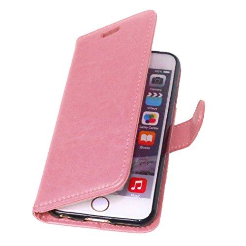 """MOONCASE Étui pour Apple iPhone 6S (4.7"""") Cuir Housse de Coque en Portefeuille Protection Case Étui à rabat Vert Rose #1221"""