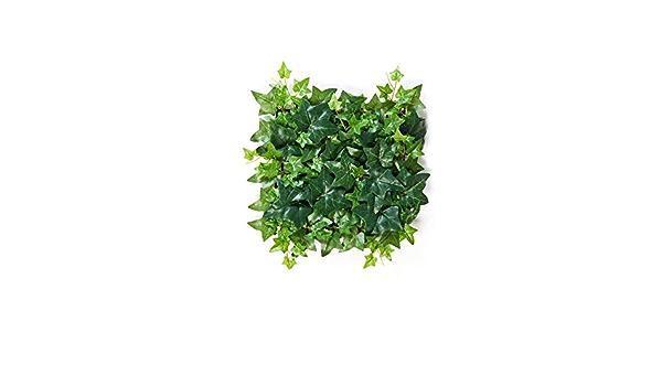 Lot de 6/panneaux de feuilles de lierre artificielles pour d/écoration d/'ext/érieur de murs ou de cl/ôtures 51/x 51/cm 50cmx50cm A036
