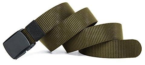 VEASTI 100% Nylon verstellbaren Guertel mit Doppel-Plastikwoelbungen Belt Militaeroptik 130CM Lange 4CM weit (M, 51'' (Breite Werkzeugtasche)
