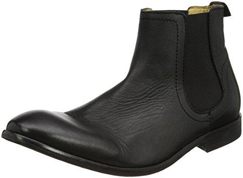 Hudson London Patterson Calf, Herren Chelsea Boots, Schwarz (Black), 44 EU (10 Herren UK) (Calf London Schwarz Boots)