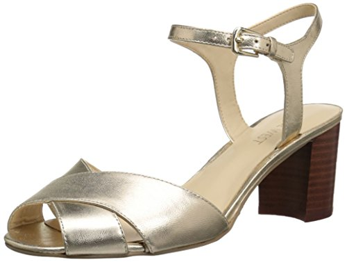 Nine West Tuchscreen Metallic Sandales à talons Light Gold